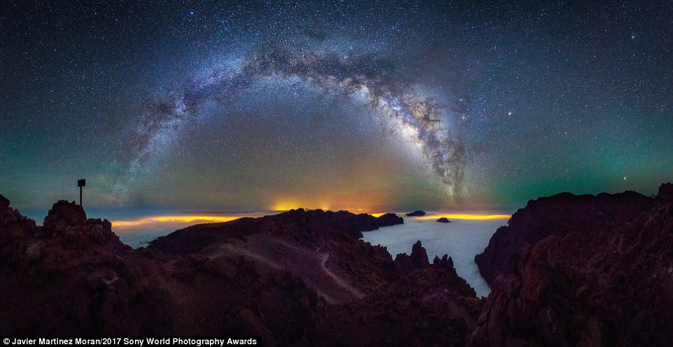 A magnificent picture of the Milk Way taken in La Palma, Spain, in the Caldera de Taburiente National Park