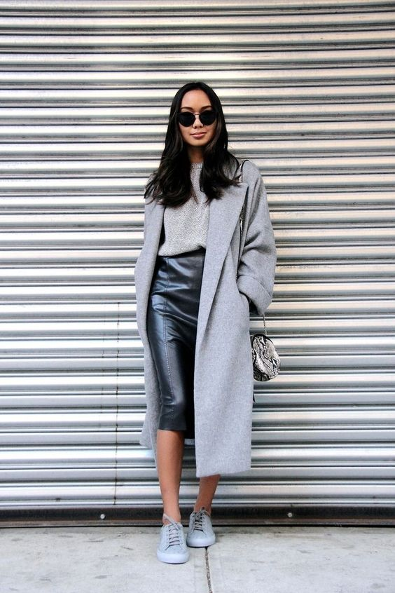 How To Wear Sneakers With A Skirt