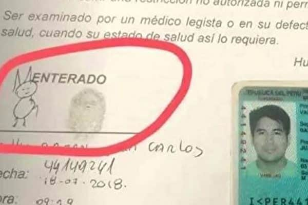 Chữ ký kỳ lạ của người đàn ông Peru này sẽ khiến bạn bật cười