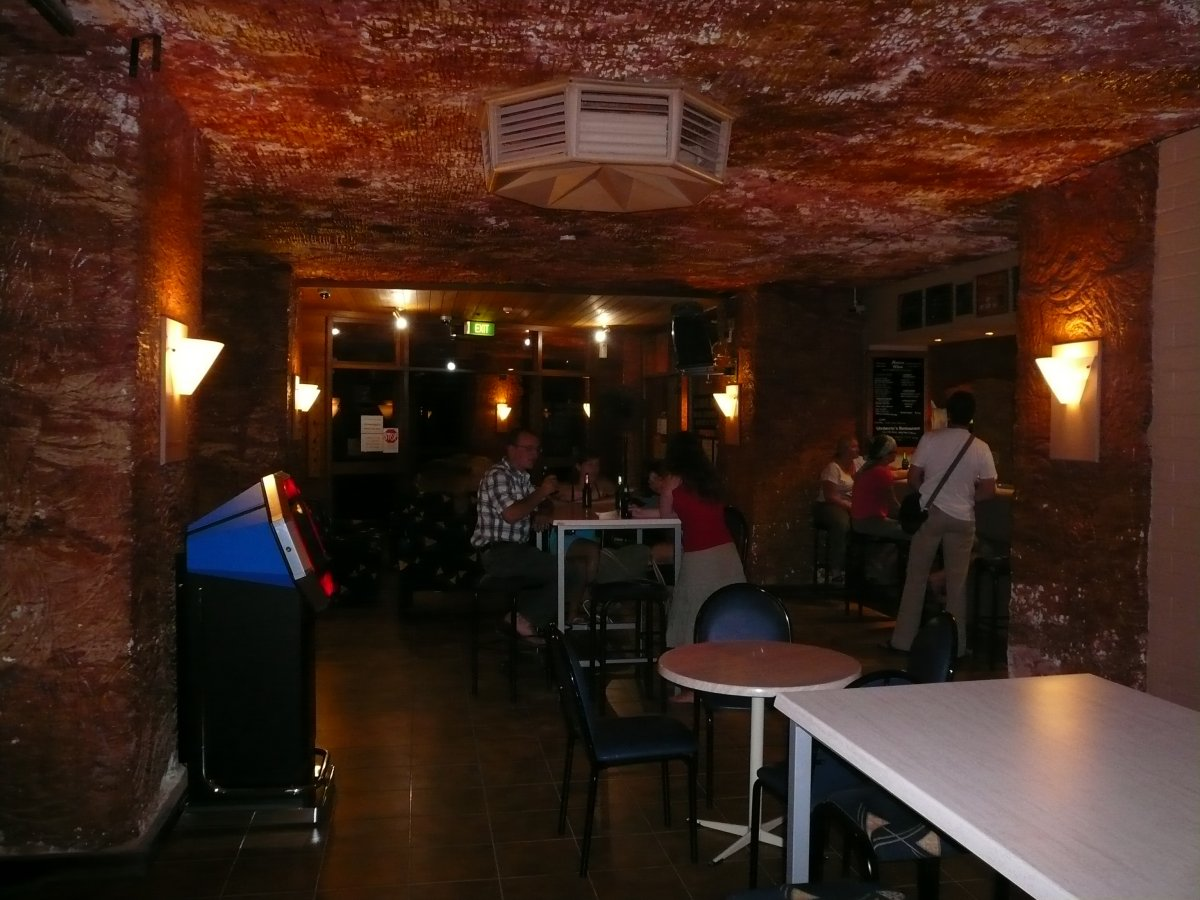And what subterranean town would be complete without a local dive bar? In Coober Pedy