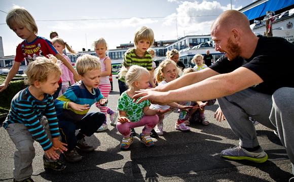Children at Flæsketorvet