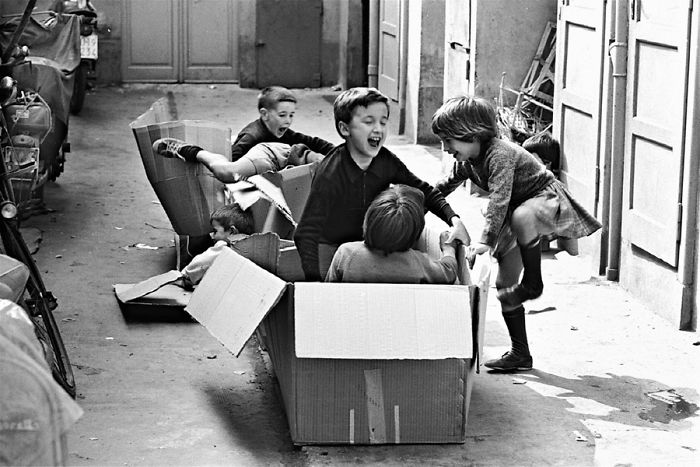 Kids Play With Boxes