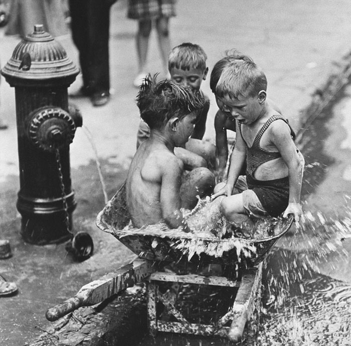 Kids Keeping Cool In The Summer, New York, 1937