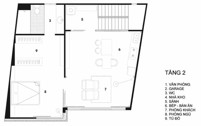 Nhà phố đẹp 110 m2 ở quận 8, TP. HCM (13)