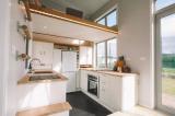 thiết kế ấn tượng, Bạn có thấy chiếc cầu thang cất khéo léo trong căn nhà mini này?