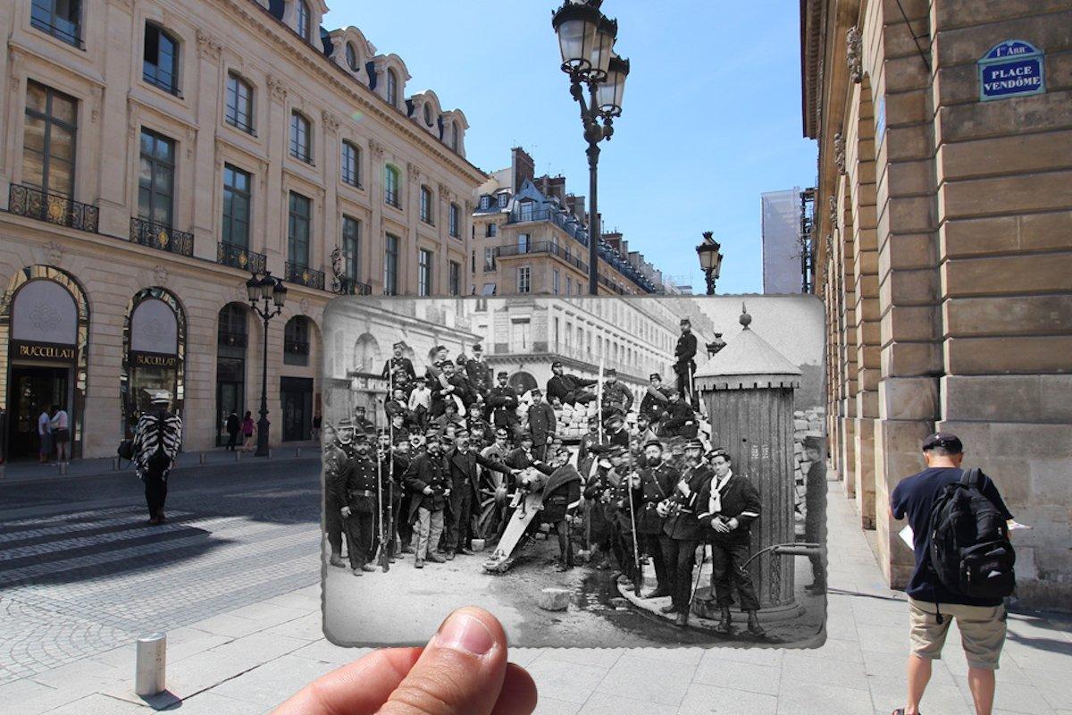 Place Vendôme, 1871, ảnh cổ điển
