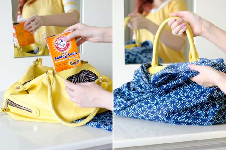 Image result for baking soda remove odor in handbag