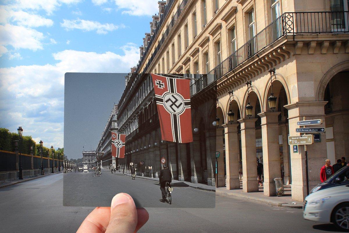Rue de Rivoli, during the Nazi occupation —c. 1942