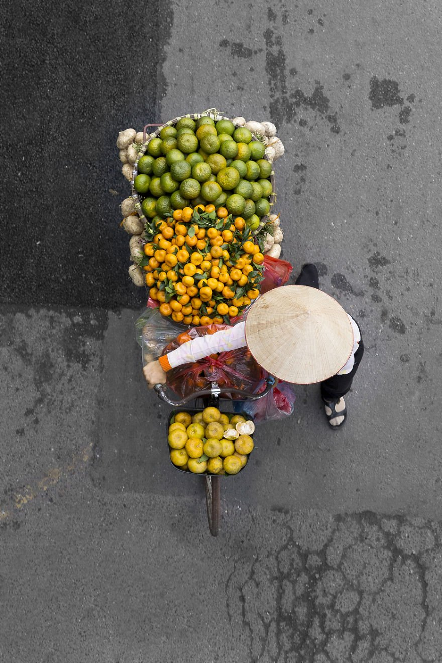 """They color the city,"" she said. ""I wanted to take the pictures from above so there would be no distractions on the images beside the vendors."""