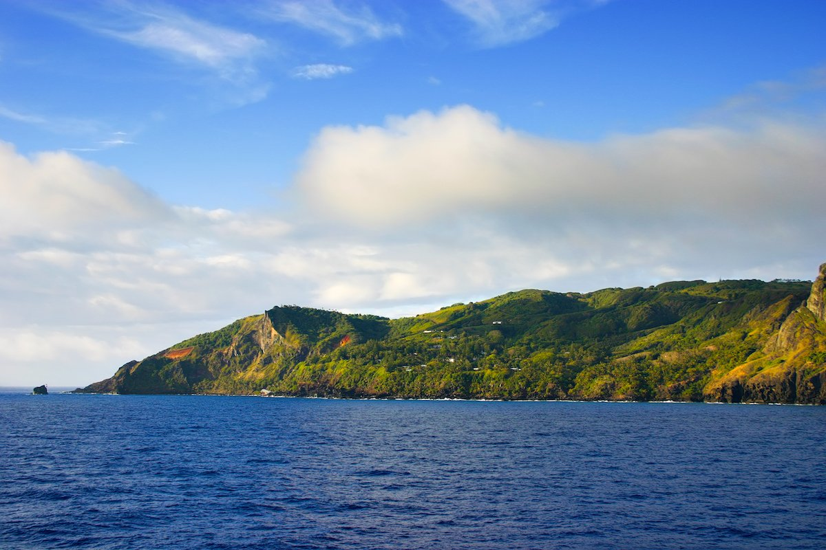 1. Pitcairn Island is the furthest island from a mainland in the world, with a population of just 49. The nearest airport is 330 miles west in the Gambier Islands, but the nearest mainland is New Zealand, which is 3,390 miles away.