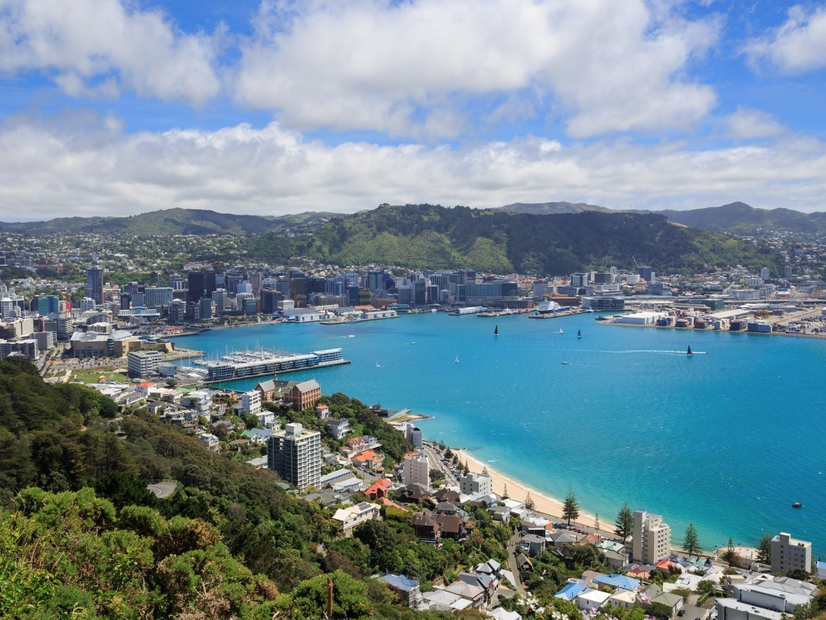 15. Wellington, New Zealand — The Kiwi city is high up on the list and has sublime weather. It is the country