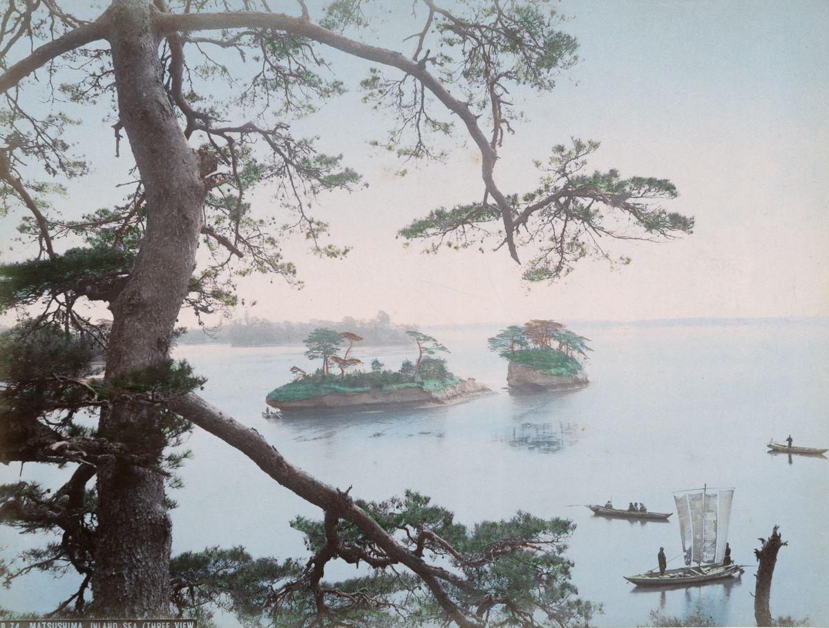 宫城县近海的风景美如画作。(New York Public Library)