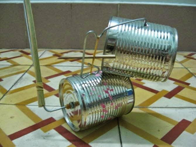 Image result for lồng đèn lon sữa bò