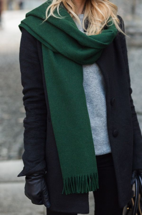 Image result for scarf style for winter outfit