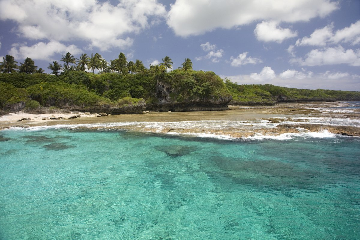 6. The tiny island of Niue is 1,500 miles from New Zealand, with a predominantly Polynesian population of 1,300. It is an independent nation with its own flag and currency, but has a diplomatic relationship with New Zealand.