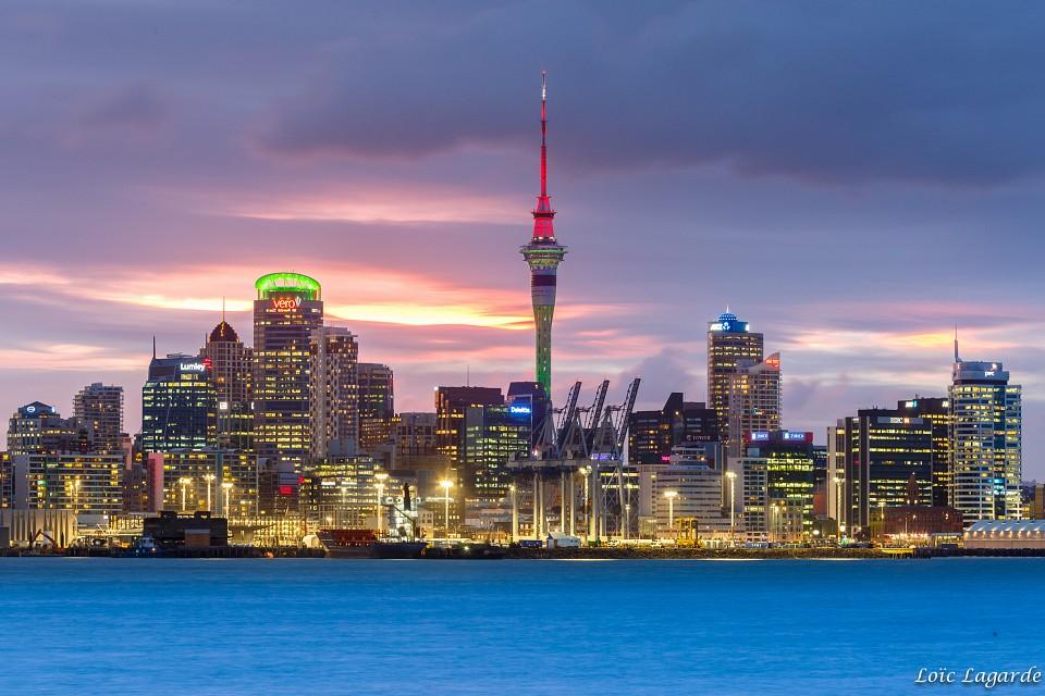 Auckland Skyline from Davenport - Auckland