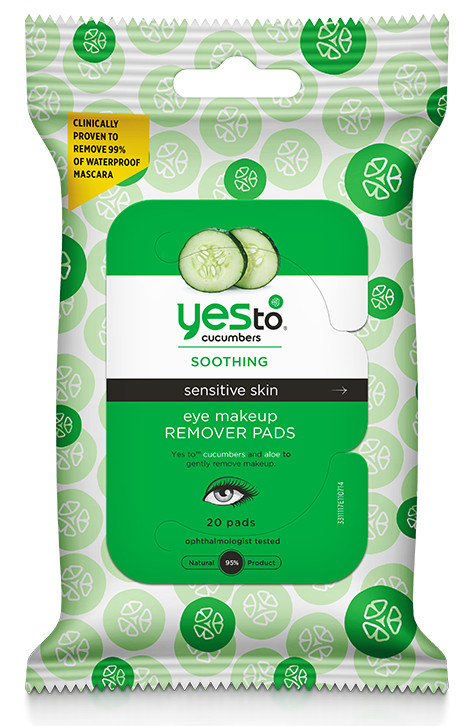 Yes to Cucumbers - Eye makeup removing pads (Ảnh:Yesto.com)