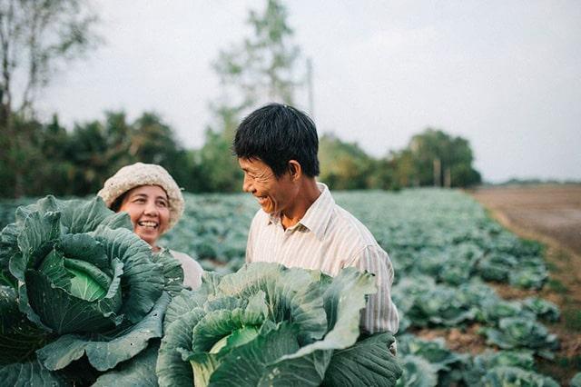 Bộ ảnh ba mẹ trong vườn bắp cải của chàng trai Sóc Trăng thu hút cộng đồng mạng