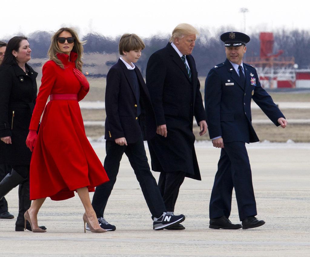 con trai út của tổng thống Donald Trump