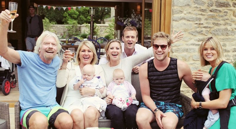 Image result for richard branson family