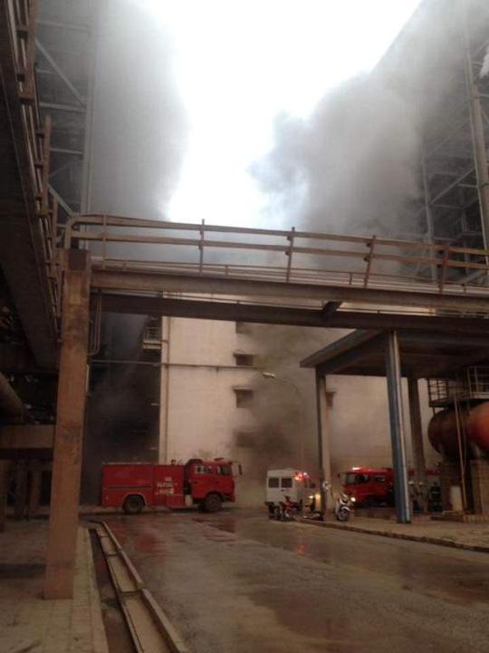 cháy nhà máy nhiệt điện cẩm phả