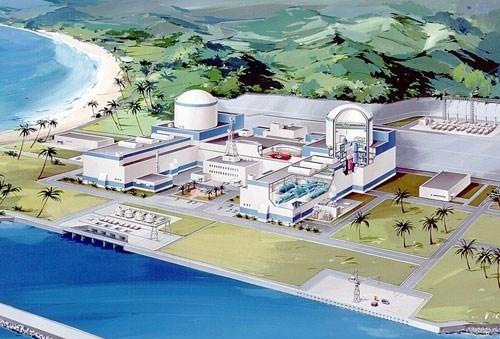 Mô hình nhà máy điện hạt nhân Ninh Thuận 1