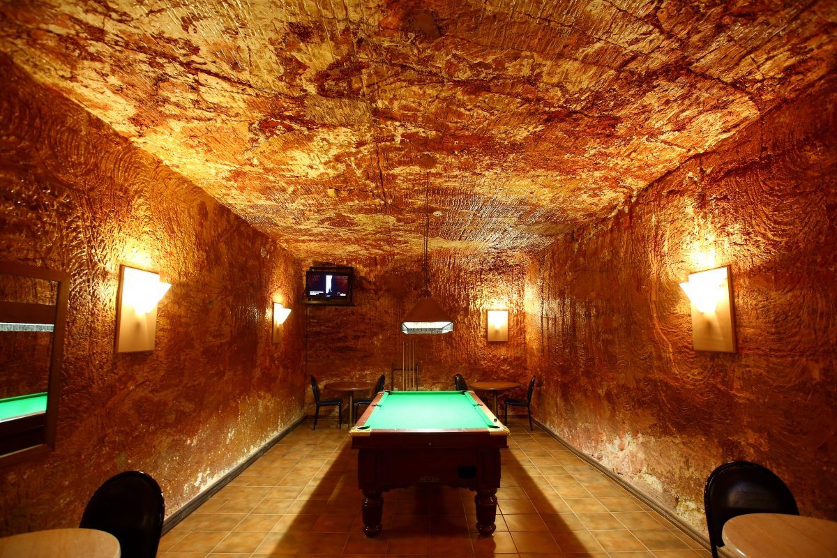 Elsewhere around the town, inhabitants and visitors alike can enjoy a game of pool ...