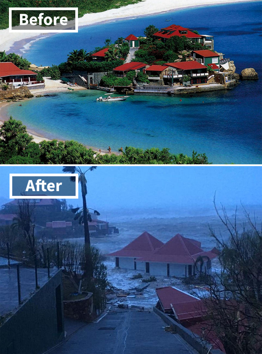 The Luxury Eden Rock Hotel On St Barts (Before And After Irma Damage)