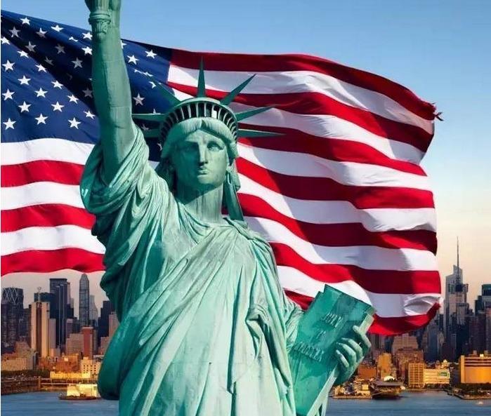 Quốc kỳ của Mỹ ngày nay, góc trái trên lá cờ có 50 ngôi sao, đại diện cho 50 tiểu bang ở Mỹ. (Ảnh: Internet)