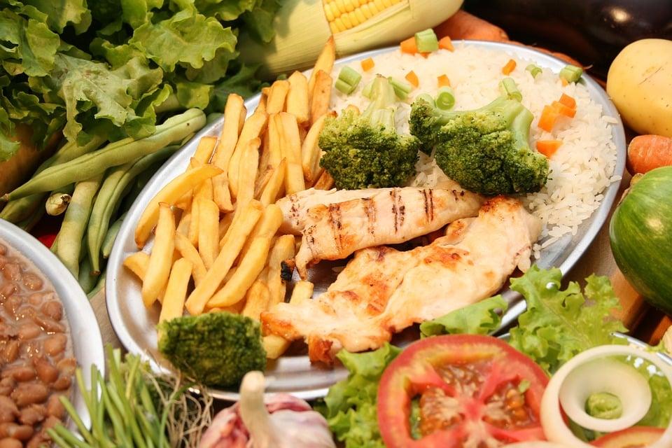 Món Ăn, Khoai Tây, Gà, Gạo, Bông Cải Xanh, Bữa Ăn Tối