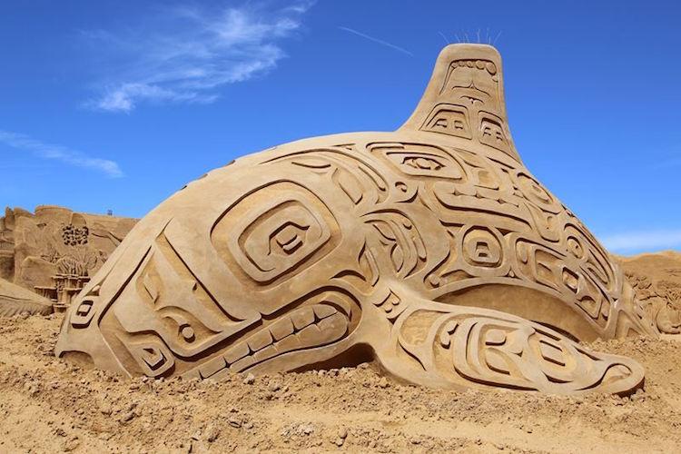 Tác phẩm điêu khắc cát Liên hoan Điêu khắc cát Søndervig, 2017