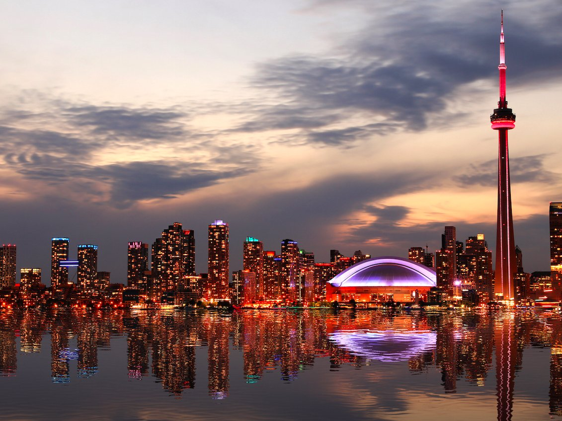 T=16. Toronto, Canada — Home to the iconic CN Tower, Toronto is Canada