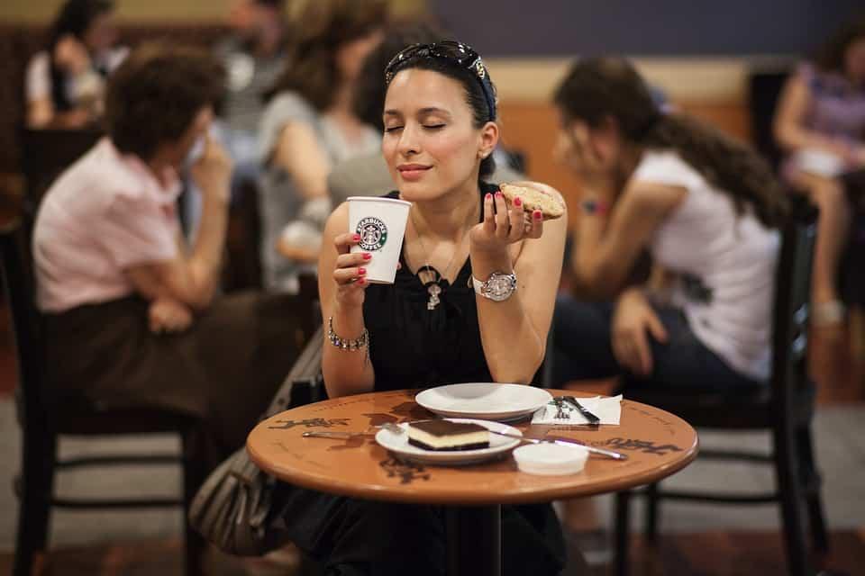 Phụ Nữ, Mô Hình, Thực Phẩm, Uống, Cà Phê, Starbucks