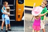 Em gái mỗi ngày chờ anh trai đi học về và ôm anh thắm thiết (Video)