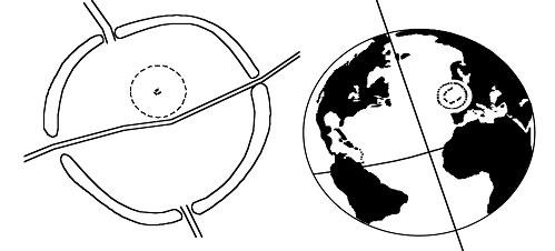 Mô phỏng vòng tròn đá Stonehenge ở Avebury – Vòng tròn đá Stonehenge thật trên Trái đất
