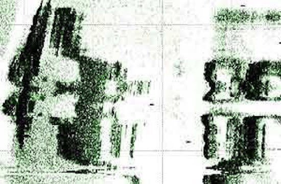 Ảnh quét bằng siêu âm cho thấy những kiến trúc chìm dưới nước