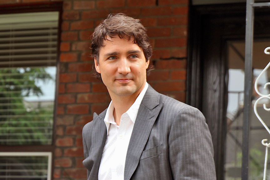 Justin Trudeau, lãnh đạo đảng Tự do ở Canada, là thủ tướng trẻ thứ nhì trong lịch sử nước này, nắm giữ chức vụ ở tuổi 43 (Ảnh: Alex Guibord/ Flickr)