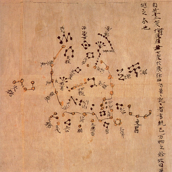 Bản đồ sao cổ Đôn Hoàng trong văn hóa Trung Hoa từ năm 940 sau Công nguyên, thời nhà Đường