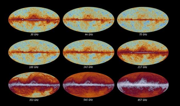 Dữ liệu tới từ Planck (Ảnh: ESA/Planck Collaboration)