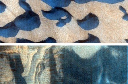 Những địa danh có tên là y Kohlar (trên) and Tleilax (dưới) của sao Hoả