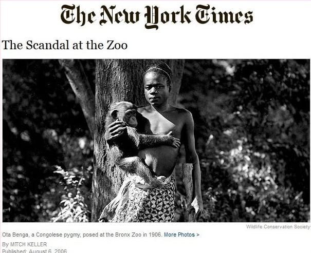 Câu chuyện Ota Benga đăng trên tờ New York Times