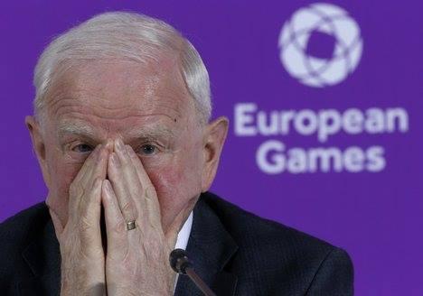 Ông Patric Hickey, chủ tịch Ủy ban Olympic Châu Âu