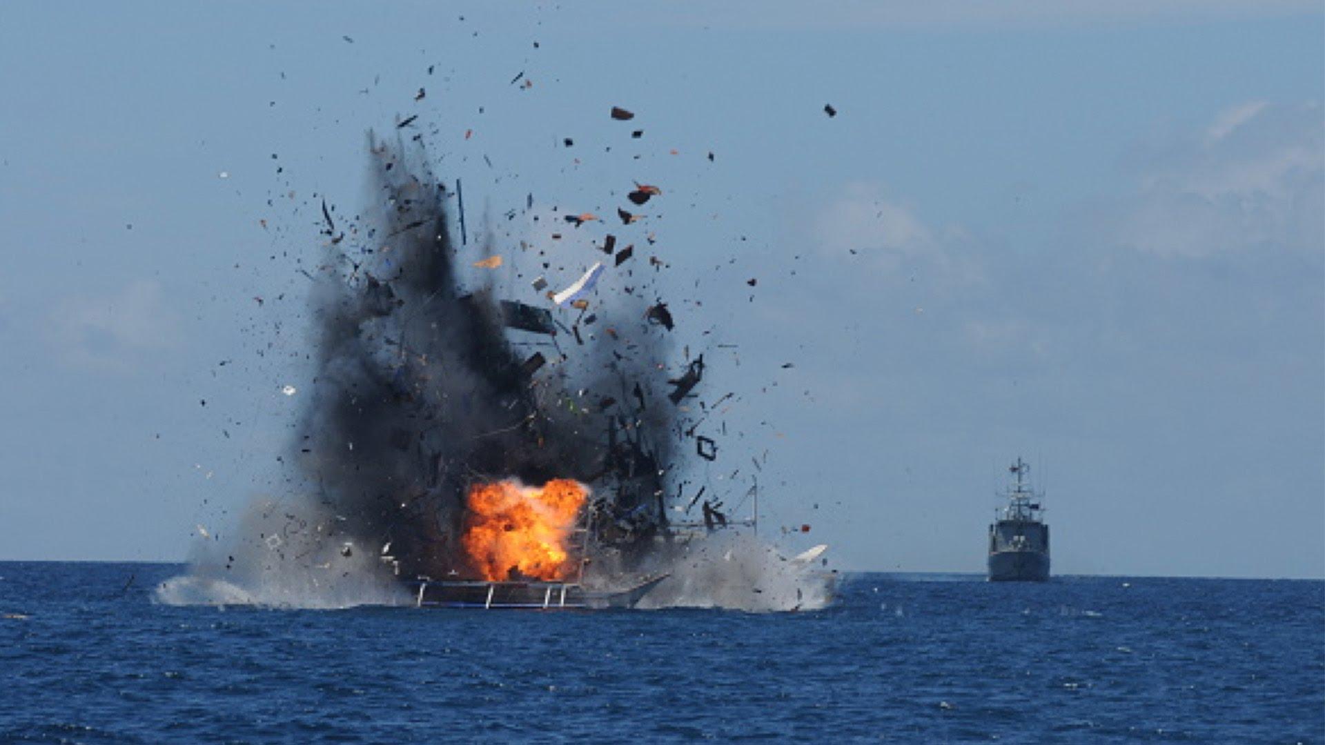 """Indonesia """"tấn công"""" Trung Quốc trên biển Đông (ảnh chụp/Youtube)"""