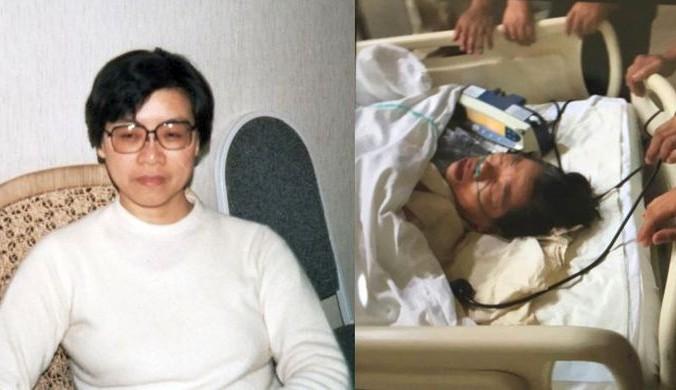 Bà Bách Căn Đễ nhập viện trong tình trạng hôn mê (phải) (Ảnh: Minh Huệ)