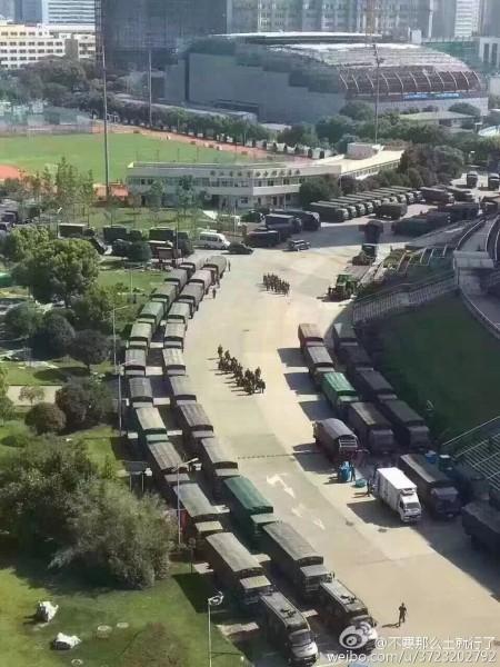 """Thành phố Hàng Châu """"bảo trì ổn định"""" đến mức chưa từng có: gần địa điểm diễn ra Hội nghị, trực thăng tuần tra trên không, lực lượng cảnh sát tuần tra mặt đất, xe tăng và xe bọc thép bảo vệ..."""