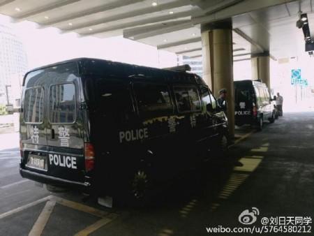 Xe cảnh sát tuần tra