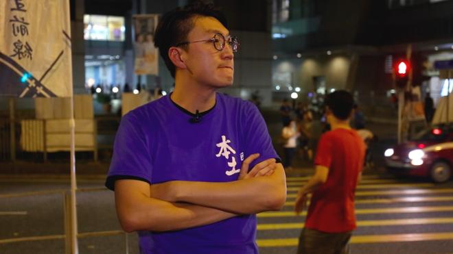 Edward Leung, đại diện cho đảng Hongkong Indigenous chủ trương độc lập cho Hồng Kông