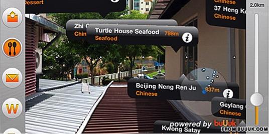 Ứng dụng BuUuk sử dụng công nghệ AR để hiển thị các nhà hàng trong 1 tuyến phố kèm theo thực đơn đặc biệt của nhà hàng cho khách du lịch
