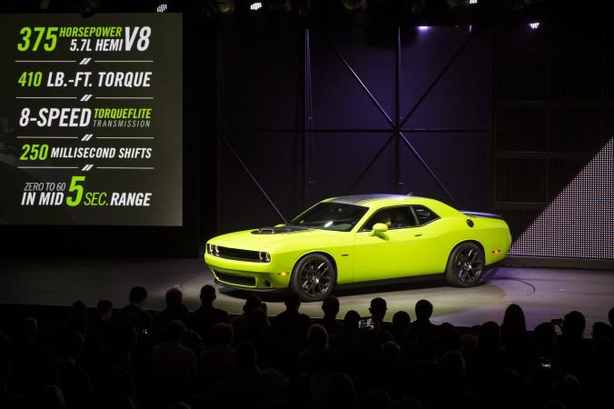 Dodge Challenger tại triển lãm ôtô quốc tế tại New York tháng 4/2016 (Ảnh: Edward Dai)