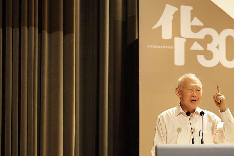Cố thủ tướng Lý Quang Diệu của singapore (ảnh: Straitstimes)